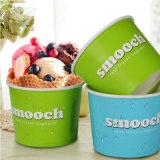 Impresa Popular 3oz el papel de la copa de helado