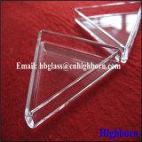 Container van het Bloemblaadje van het Glas van het Kwarts van de fabrikant de Duidelijke Driehoekige