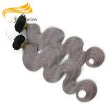 Extensión natural del pelo de la Virgen del color de Remy de las extensiones verdaderas del pelo