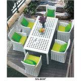 Muebles al aire libre del patio del verano negro simple de la rota
