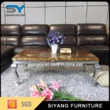 Mesa de centro moderna de los muebles del vector casero del acero inoxidable