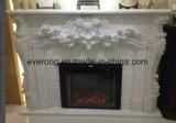 Bege/marrom/branco/preto/cinza em mármore/Sandstone/lareira de pedra calcária Mantel para decoração de interiores