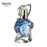 De hand poetste de Transparante Fles van het Parfum van het Glas met Leer GLB op
