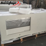 A pedra branca popular de quartzo cobre consoles de cozinha Prefab