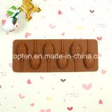 100 % du silicone de qualité alimentaire à 6 cavités Lollipop Moule de chocolat