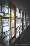 Supporto di cristallo del manifesto della visualizzazione della finestra per l'agente immobiliare