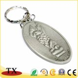 Marque de forme rectangulaire Tag Key Ring