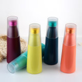 فراغ عزل [ستينلسّ ستيل] ضعف يحوّط كظيمة قارورة, معدن زجاجة مع تغطية بلاستيكيّة