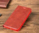 Caisse en cuir de la meilleure qualité de téléphone de pochette de Kickstand de folio de chiquenaude pour l'iPhone