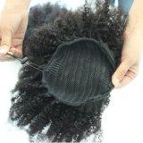 100%の短いポニーテールの拡張10-18inchバージンの人間の毛髪
