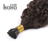 Uitbreidingen van het Haar van het Uiteinde van 18 Duim van het Haar van de opperhuid de Maagdelijke Zwarte Krullende