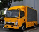 HOWO 6 바퀴 이동할 수 있는 LED 차량 트럭을 광고하는 5 톤