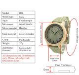 Horloges Mens van het Embleem van de douane de Houten Bulk