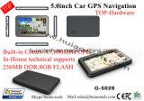 """Система навигации GPS черточки автомобиля верхней части 5.0 """" с приемником Bluetooth Tmc AV-в для Rearview Camer"""