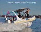 Bateau rigide gonflable de coque de fibre de verre gonflable de bateau de Liya 22feet Hypalon