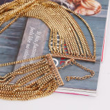 ヨーロッパの方法金属はレトロのマルチ層のふさのセーターの鎖のネックレスを過大視する
