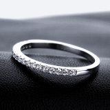 Diamante che imposta anello argenteo 925 per i monili di cerimonia nuziale
