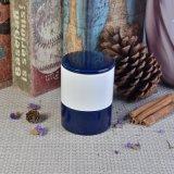 Supporti di candela di ceramica lustrati colore del Matt del cilindro con i coperchi per la decorazione
