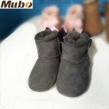 Handmade belle peau de mouton Bow-Knot Soft-Soled Chaussures de bébé