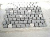 Pietra per lastricati grigia naturale del granito/pietra del ciottolo con la maglia
