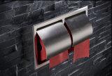An der Wand befestigte Inox Edelstahl-Doppelt-Toiletten-Rollenhalter-Badezimmer-Zubehör-doppelter Toilettenpapier-Halter