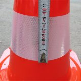 Cone de plástico de alta qualidade de PVC 470mm com bandas reflexivas de 90mm