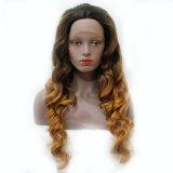 Perruque synthétique blonde de cheveu d'Ombre de l'onde 2017 profonde molle