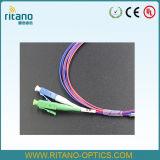 1X2 de LC/PC em acopladores da fibra óptica do 1:99 para fora LC/APC, fibra Jacketed Ruggedized de 0.9mm