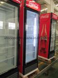 320L de rechte Enige Koelkast van de Drank van de Deur van het Glas met LEIDENE Verlichting