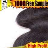 глубокая волна 6grade индийского продукта волос Kbl волос