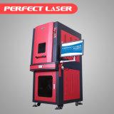 machine d'inscription de laser de fibre du bac 20W en métal de surface 3D incurvée