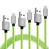 2018 высокая скорость металлической головки блока цилиндров 1/ 3фт нейлоновые экранирующая оплетка кабеля USB для iPhone