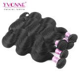 イボンヌの高品質ブラジルボディ波状毛の拡張夜通しの出荷