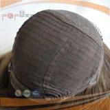 De color negro de seda cabello brasileño Top peluca (PPG-L-01471)