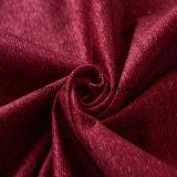 Impressão de cor vermelha tecido de veludo de poliéster com TC
