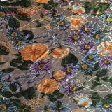 Tessuto di Vevlet, tessuto di nylon del velluto. Il nylon brucia il tessuto