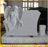 천사 조각품 디자인을%s 가진 고품질 백색 대리석 기념물