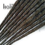 Singolo colore biondo scuro concluso Backcombed Dreadlocks della miscela dei capelli sintetici
