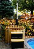 Bañera de madera al aire libre de la tina caliente del punto más caliente de la bañera de madera del jardín