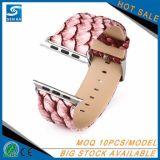 Nuova cinghia di cuoio personalizzata del reticolo del boa per il cinturino del Apple