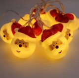 クリスマスの装飾のサンタクロースの形LEDライト