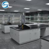 Профессиональный дизайн учебного лаборатории стали рабочий стол с тройной под струей горячей воды и Pegboard