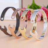 De nieuwe Armband van de Mensen van het Roestvrij staal van het Titanium van de Juwelen van de Manier Vastgestelde