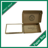 100% reciclado de papel Kraft marrón caja con inserción