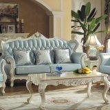 Il sofà di cuoio di legno ha impostato per la mobilia del salone (510D)