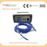 熱電対ワイヤー温度計の表示24チャネルの温度(AT4524)
