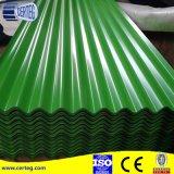 Lamiera di acciaio ondulata del metallo di Undee di colore verde blu per il tetto