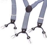 L'elastico della tessitura del jacquard rinforza le bretelle di cuoio dell'indumento dei fori di tasto (RS-17019)