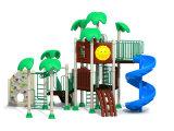 Дети играют, игровая площадка для установки вне помещений оборудование пластиковые слайдов