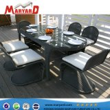 Wicker Dining Outdoor Patio Counts and Chairs and EP Rattan Outdoor Dining Table